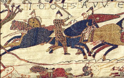 Battle of Hastings - battle scene from the Bayeaux Tapestry